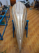 Photo: 3 bottom runners fitted, reenforce the 2 ends with additional layer of fiberglass