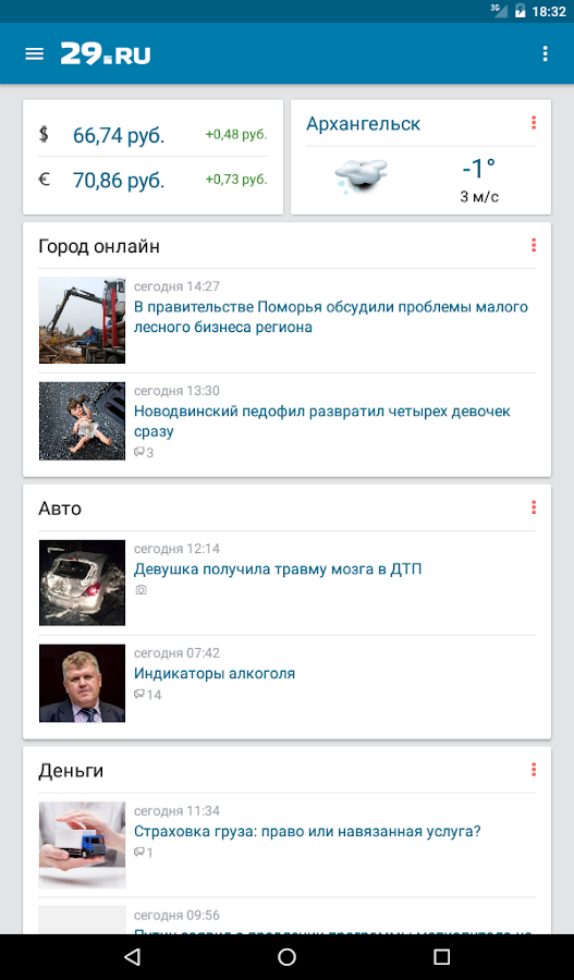 29.ru- screenshot