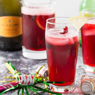 Hibiscus Ginger Prosecco Punch.