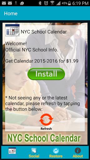 Natter's NYC School Calendar