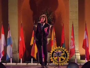Photo: Arnou, most famous voice in France. One of the Highlights during the opening evening at the garden of the Imperator Hotel.