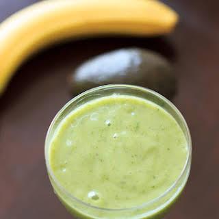 Avocado Banana Smoothie.