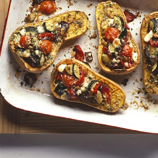 Roast Squash With Goat's Cheese.