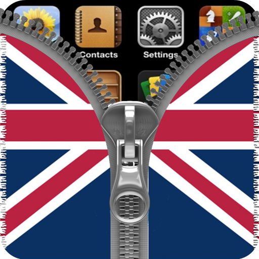 UK Flag Zipper Screenlock