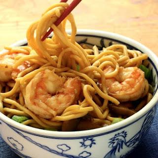 Shrimp Lo Mein Noodles.