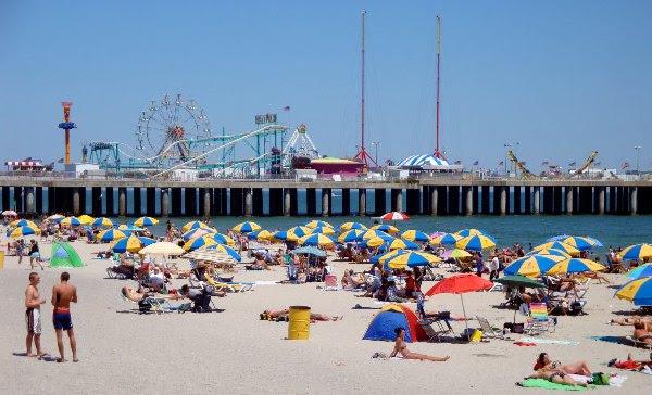 Praia em Atlantic City