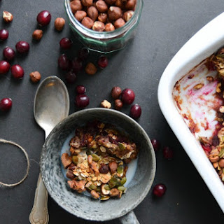 Baked Cranberry Christmas Oatmeal