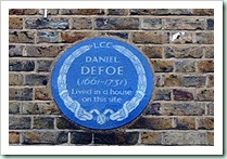 defoe plaque S Newington