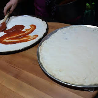 Homemade Pizza Dough and Pizza Sauce.