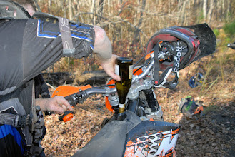Photo: 2stk ktm, 3 gal tank, made it about 40 miles