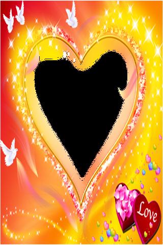 バレンタインの結婚式のフレームを愛する