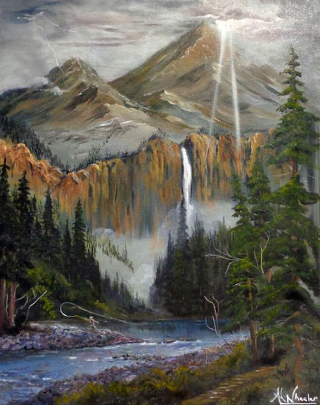 People's Choice Award:  Paradise Valley Oil and Acrylic by Andy Wheeler