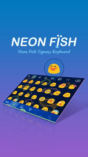 mod Neon Fish Theme&Emoji Keyboard 4.5 screenshots 2