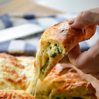 Spinach & Cheese Stuffed Bread (Khachapuri Style).