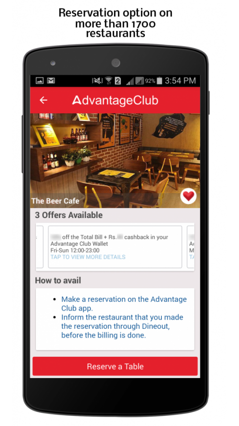 Advantage Club- screenshot