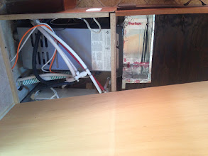Photo: Furnace Drawer Mod: Furnace enclosed in cabinet below mattress