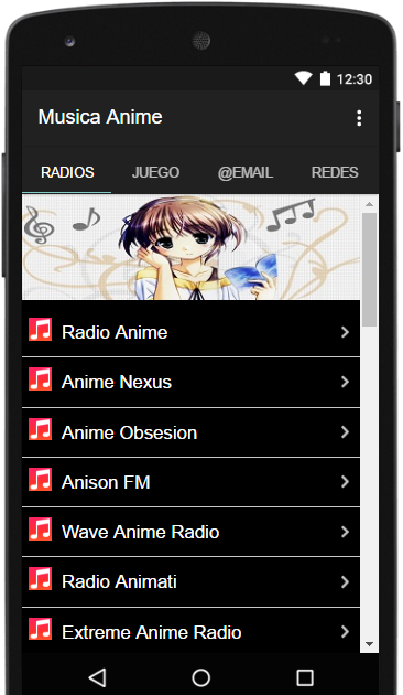 Musica Anime- screenshot