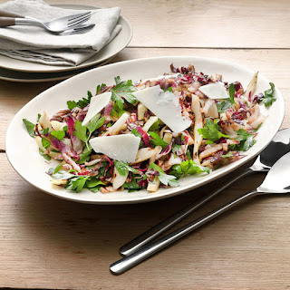 "Grilled ""Tricolore"" Salad with Radicchio, Fennel and Parsley Recipe"