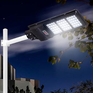 Lampa stradala 90W cu panou solar, 6500K, telecomanda