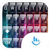 Theme TouchPal Glass Rainbow
