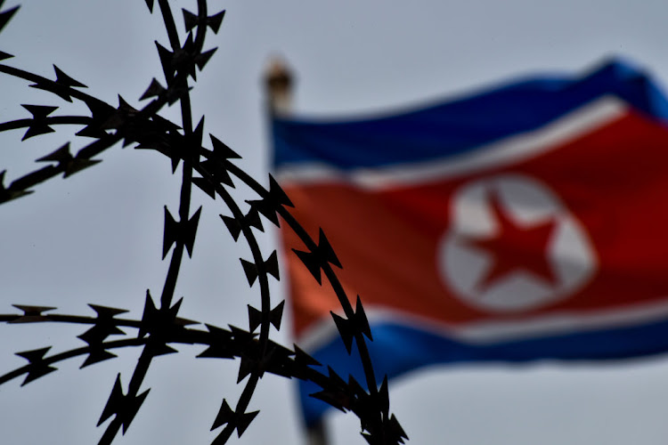 North Korea's flag. Picture: CHRIS JUNG/NURPHOTO VIA GETTY IMAGES