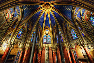 Photo: Exclusive Google+ first post!  The Spiritual Apex   This was a new place to me! It's a wonderful spot I visited underneath the much more popular Sainte-Chapelle in Paris. This was a handheld shot - a RAW photo - since they did not let me use a tripod... this was of course frustrating to me, so I had to make due with a steady body and sniper-breathing.  BTW, thanks again for everyone that joined the hangout and all the extra people who were able to watch the live stream. We're working on getting it uploaded so we can share the video with everyone in the next few days...