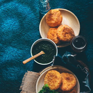 Matar Kachori – Spiced green peas stuffed into flaky deep fried dough