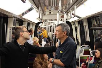 Photo: In the metro