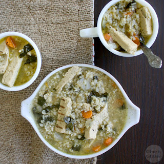 Vegan Chicken Soup with Rice