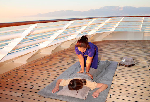 Seadream-thai-massage.jpg - Thai massage is offered on deck on SeaDream Yacht Club cruises.