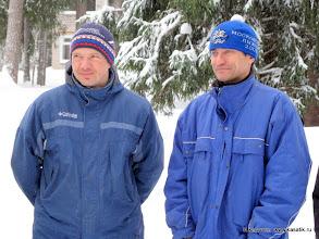 Photo: Первые чемпионы России по рогейну на лыжах Олег Калинин (слева) и Андрей Шведов