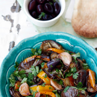 Roasted Eggplant and Pepper Salad
