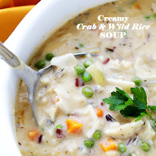Creamy Crab and Wild Rice Soup.