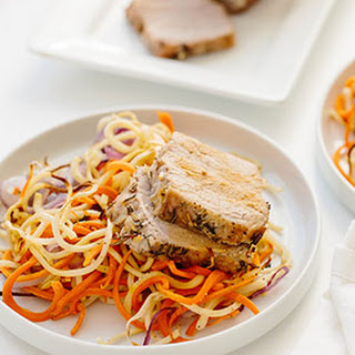 Pork Loin Roast with Spiralized Root Veggies