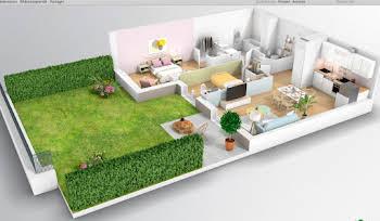 Appartement 3 pièces 58,44 m2