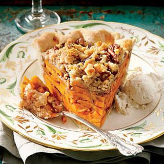 Sliced Sweet Potato Pie
