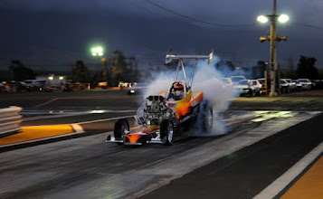 Photo: Jamie Texeira's blown, alky-fueled Chevy powered roadster is always a pleasure to see run!