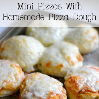 Mini Pizzas With Homemade Pizza Dough.