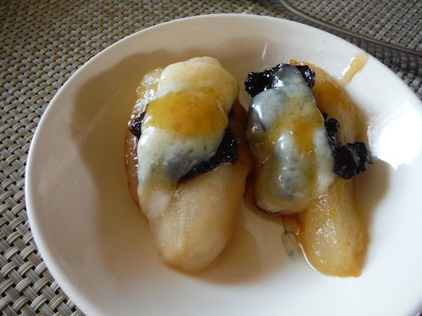 Swiss - Caramel Pears With Cheese Covering Recipe