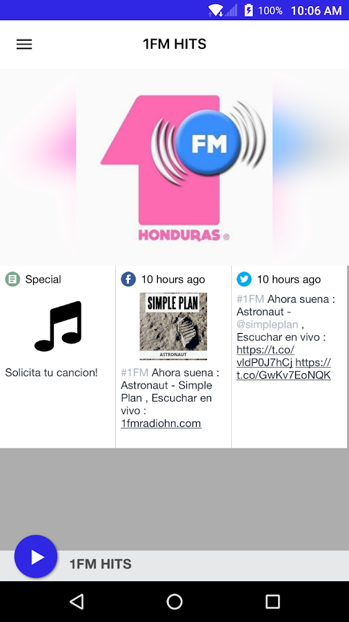 1FM HITS- screenshot