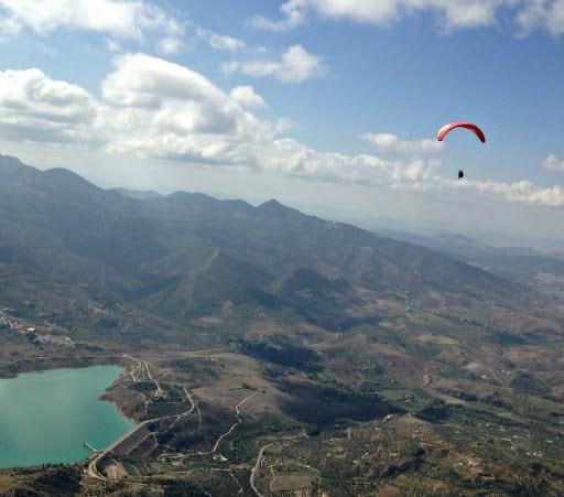 Cp soaring with vultures in El Bosque