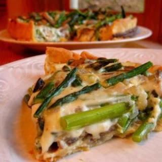 Asparagus and Mushroom Quiche.