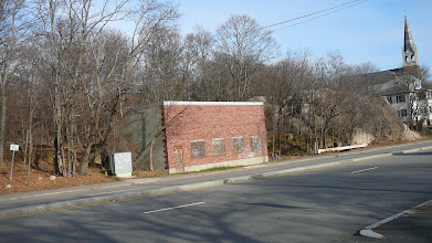 Photo: Scotch Pond Brook runs just to the right of 277 Granite St. (small brick building)