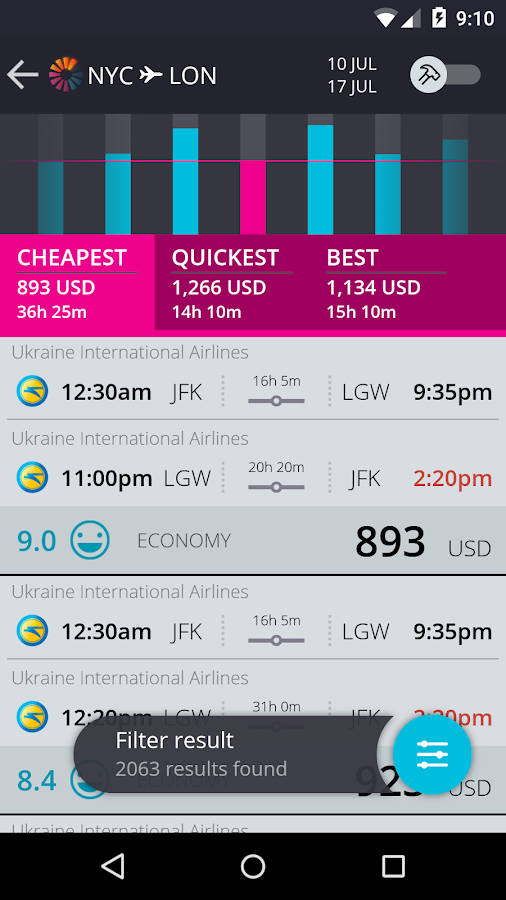 momondo Cheap Flights & Hotels - screenshot