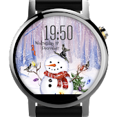 Snowman ⛄ Free Watch Face