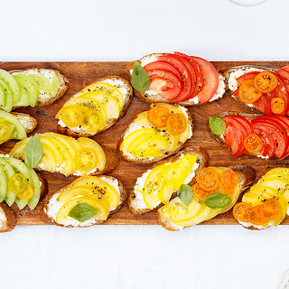 Rainbow Heirloom Tomato Bruschetta Recipe