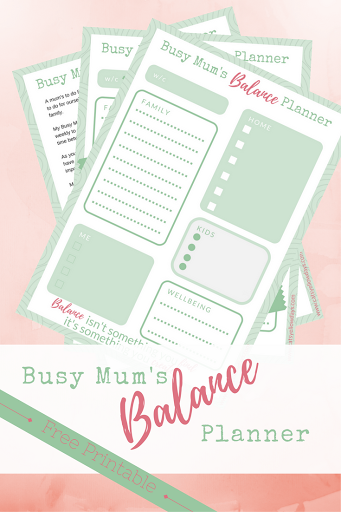RECEIVE THE BUSY MUM'S BALANCE PLANNER