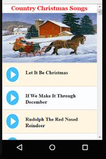 screenshot image - Country Christmas Songs