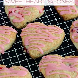 Cherry Almond Sweetheart Scones