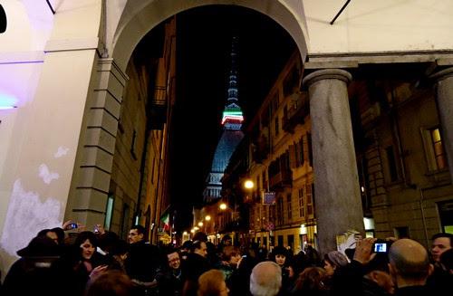 Portici di Torino, Mole Antonelliana, via Po